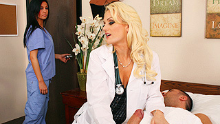 Sassy Sinful Female Doctor Is Busted Jerking Her Patient S Cock Off