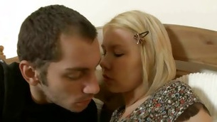 Natural blonde hot prossie is moaning while getting her anal fingered doggy