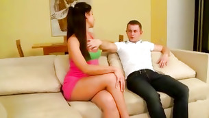 Nice looking young fellow can't help fucking his sexy aroused girlfriend
